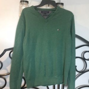 Men's tommy Hilfger green sweater